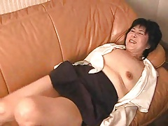 mature japonese lady playing