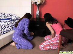 Stepdad got to bang teens Emily and Sami