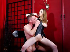 gangbang action for the slutty blonde stella cox