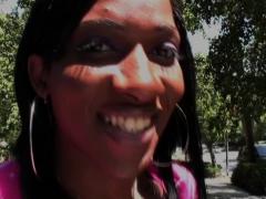 Ebony trans debutante sprays gallon of jizz