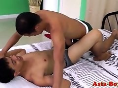 Ethnic filipino twink assfucks buddy bareback