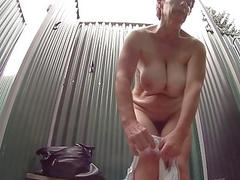 Busty Woman in Shower