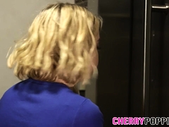 Blonde teen pussy spunked