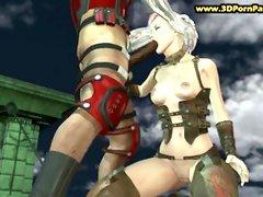 Hot scene from Tekken Sex Game