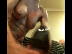Check my milf riding huge toy and stretching her pussy