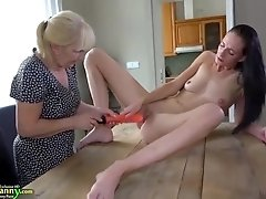Old matures take off panties
