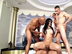 nice tgirl banged by four cocks