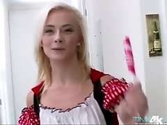 Sweet tiny Maddy gets her pussy lick and bang in atreat or trick event
