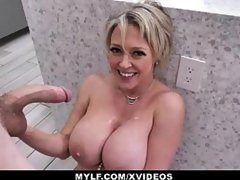 MYLF - Big Tits Blonde Milf Sucks And Fucks In The Kitchen