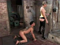 Strap on fucking poor boy submission cezar73