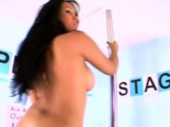 Hot latin babe Barbara striptease