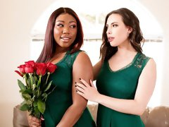 Stunning IR lesbian action with Casey Calvert and Chanell Heart