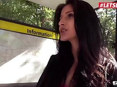 LETSDOEIT Sexy Coco Kiss Takes BBC For Cash On The Van Fuck