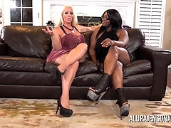 Alura Jenson and her super-naughty ebony neighbors are having gang romp and loving it a plenty of