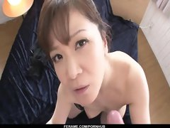 POINT OF VIEW fellatio with spectacular hefty funbag Ichika Asagiri