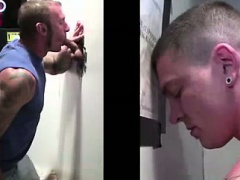 Straight tricked into blowjob at gay gloryhole