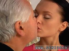 sucking on her boobs and the old man loves it