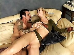Horny army girl mounted from behind and ass fucked