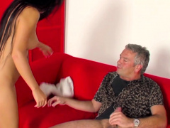 Teen Jessi Poduskova Fucks Lucky Old Man