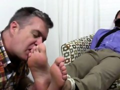 Kissing boys foot gay first time Chase LaChance Tied Up, Gag