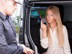 Czech babe Angela Christin gets fucked in a van