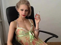 Mature Blonde Whore Smoking
