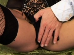 Babe pisses on hand before sucking and fucking a hard weenie