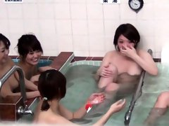 Pissing asians shower