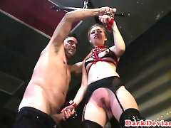 Defiant sub analfingered and spanked
