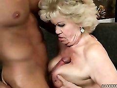 Big boobs grandma has hot sex