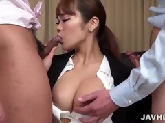 Anju Akane fucked in ripped pantyhose