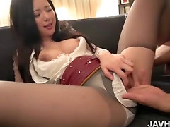 Asian girls upskirt with ripped pantyhose