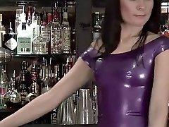 elise: purple latex dress
