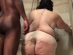 the bath was rammed within by bbw MOTHER