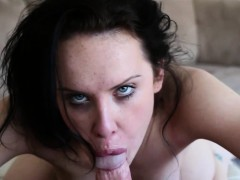 Cocksucking inked slut doggystyled in fantasy