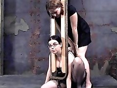 Submissive slave girl got bound and punished by mistress BDSM