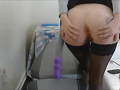 fuck dildo on chair