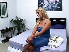 Bimbo Shyla Stylez in a tight dress