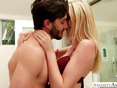 Sensual blonde chick Anny Aurora cheats on her lovely boyfriend