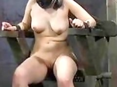 Obedient slave girl has nasty bondage sex in dungeon BDSM