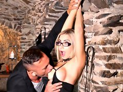 Glamorous big-boobed blonde Nathaly Cherie loves his long dick