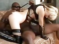 These little BDSM sluts love to worship big black cocks