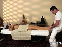 Very tricky massage room of gentle masseur