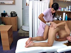 Sexy medical exam of this skinny beauty from the nurse