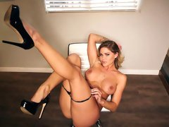 Awesome MILF Jessa Rhodes fucks with a random guy in the toilet