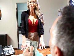 Glamorous MILF with huge boobs Nicole Aniston is enjoying their cocks
