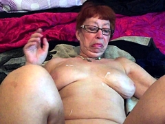 Curvy mature wife with big breasts gets her holes fingered