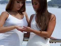 Lovely weekend by Sapphic Erotica  Amirah and Victoria Daniels lesbians