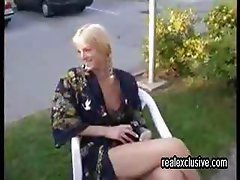 Holiday Fun with public Blow Job my wife