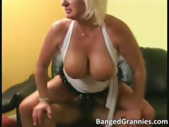 Amazing hot big boobed blonde MILF whore part1